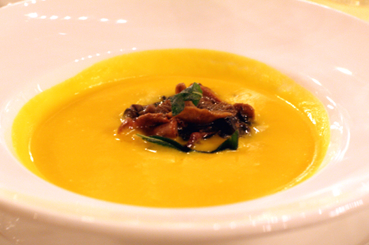 A lovely pumpkin soup.