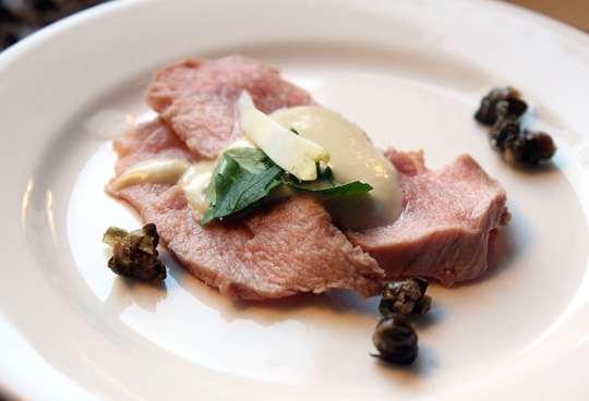 Classic Italian Vitello Tonnato by Chef Michael Tusk.