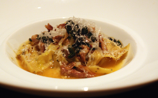 The fabulous duck ragu with rosemary tagliatelle.