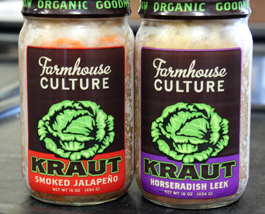 Her jarred, refrigerated sauerkrauts can be found at farmers markets and Whole Foods stores in the Bay Area.
