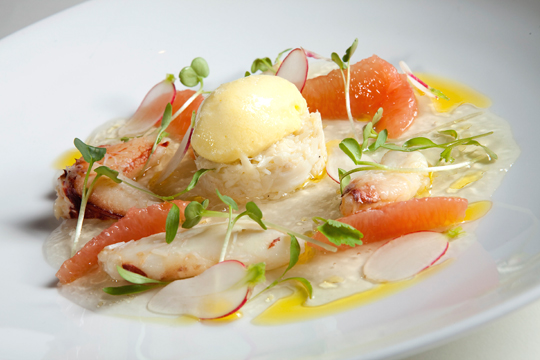 Dungeness crab salad at One Market Restaurant. (Photo courtesy of the restaurant)