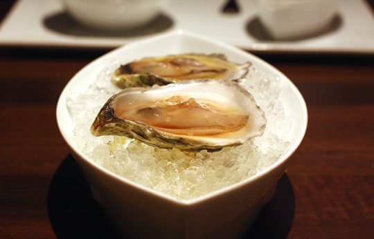 Oysters with umami-rich aged soy sauce.
