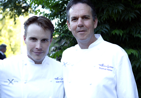 Achatz and Thomas Keller at the French Laundry. (Photo courtesy of the French Laundry)