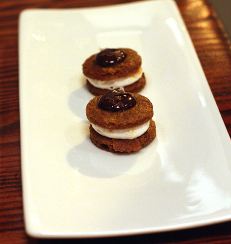 Tiny cookie sandwiches to send you off into the night.