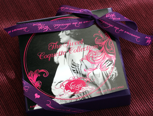 A four-piece Vosges box perfect for Valentine's Day.