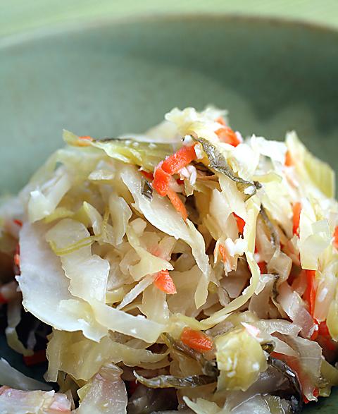 Horseradish Leek sauerkraut.