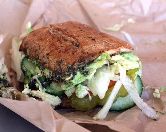 "The veggie ""Favorite Sesame Street Character'' sandwich."