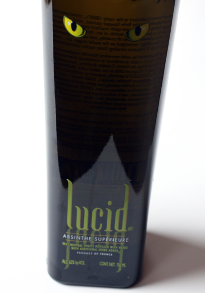 Lucid absinthe from France.
