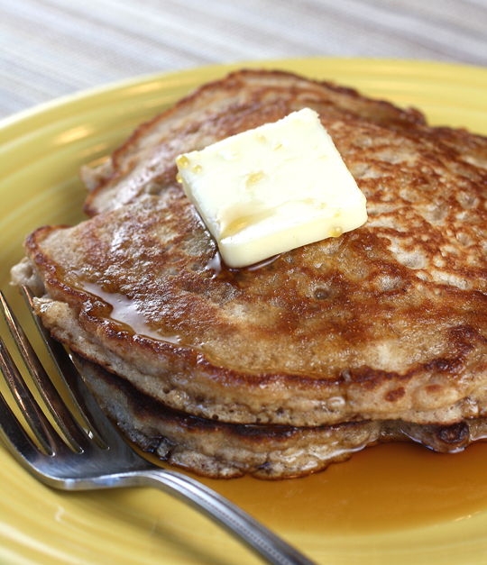 Fluffy, hearty pancakes from Jack &amp; Jason mixes.