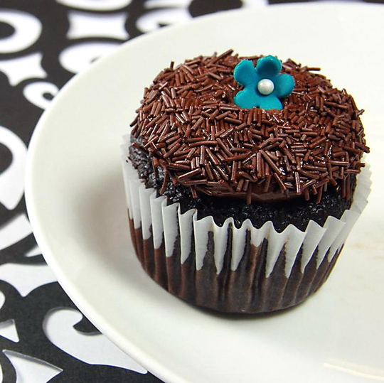 A chocolate cupcake from Sinful Bliss. (Photo courtesy of the bakery)