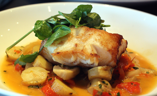Mediterranean-style black cod.
