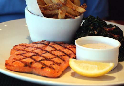 Grilled steelhead trout.