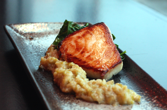 Butterfish with melty, creamy, miso leeks.