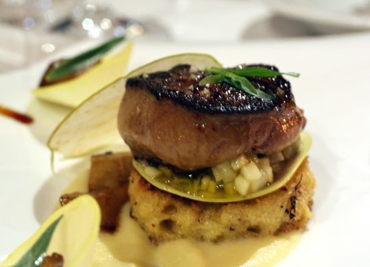Philo Farm apples star in many dishes, including this seared foie gras.