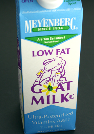 Velvety, yet low fat, goat milk.
