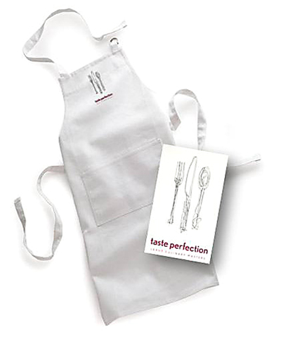 Four lucky readers will each win an autographed apron. (Image courtesy of Lexus)