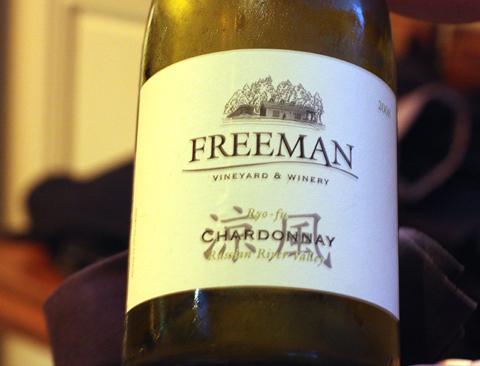 Freeman wines.