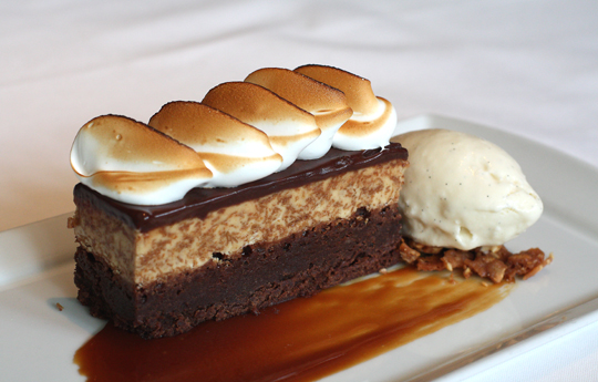 A tantalizing peanut butter brownie bar with toasted marshmallow.