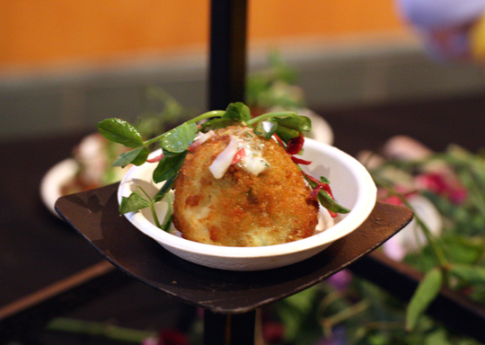 Asparagus-potato croquettes from Jesse Cool of Flea St. Cafe in Menlo Park.