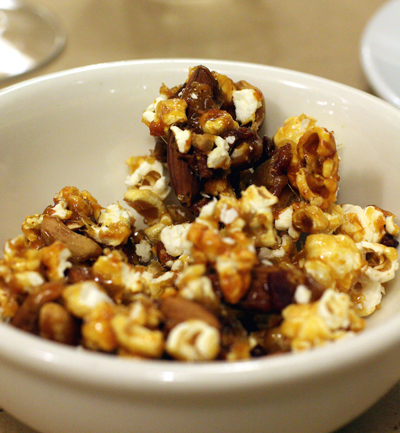Bacon caramel corn. Need I say more?