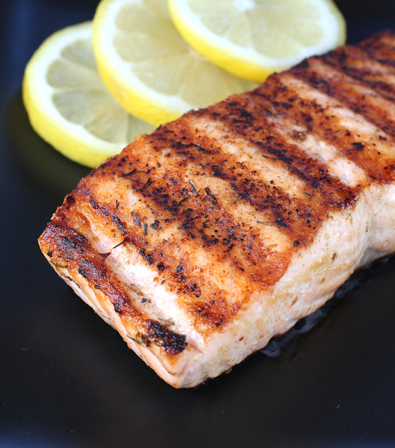 Fresh Loch Duart salmon delivered to my door that I cooked up on a grill pan.