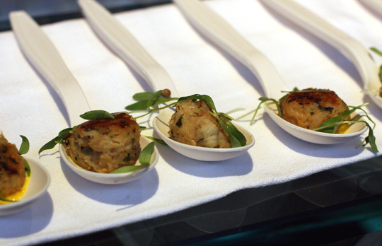 Crab cakes from Chef Mark Dommen of One Market in San Francisco.