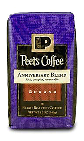 And the companion 45th Anniversary Blend Coffee. (Image courtesy of Peet's)