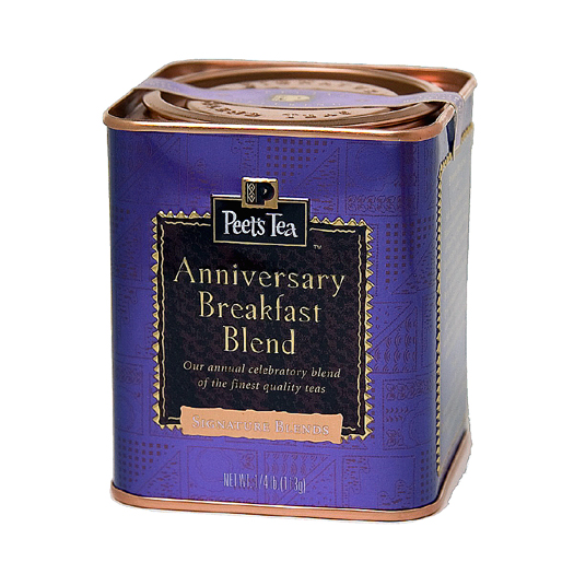 Peet's special 45th Anniversary Blend Tea. (Image courtesy of Peet's)