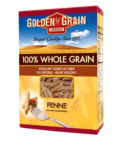 Golden Grain's new line of whole grain pastas.
