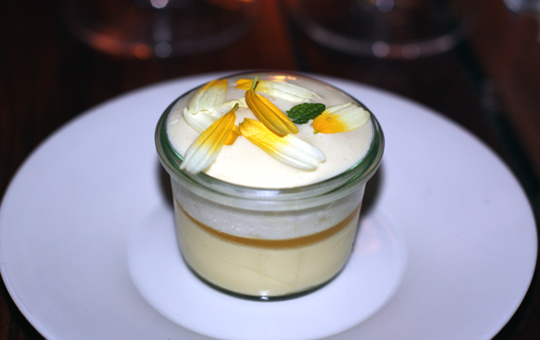 A preserved Meyer lemon parfait.