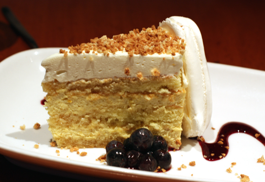 Creamy, soft and crunchy -- Italian sponge cake worth the calories.