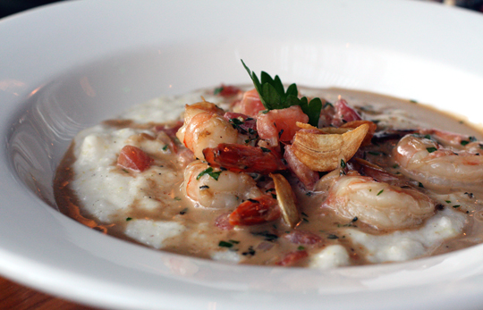 Barbecue shrimp and grits.