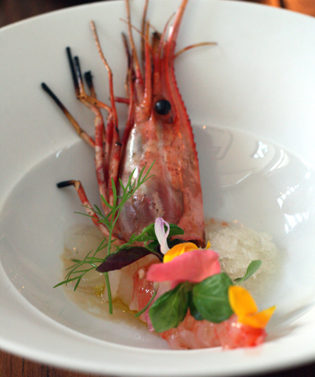 One prawn -- but prepared two ways.