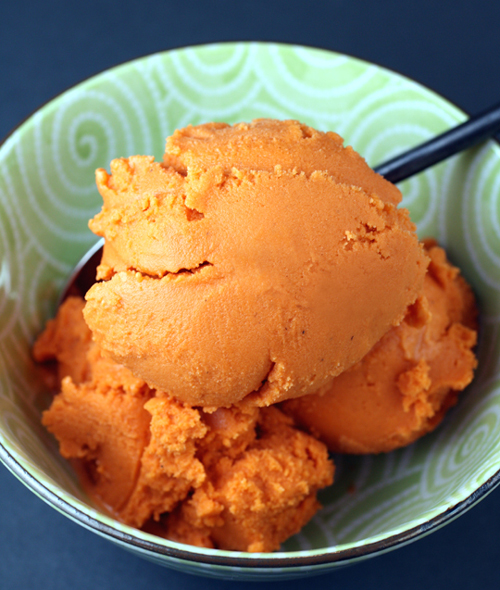 The lovely, intense flavor of Thai Iced Tea in a sorbet.