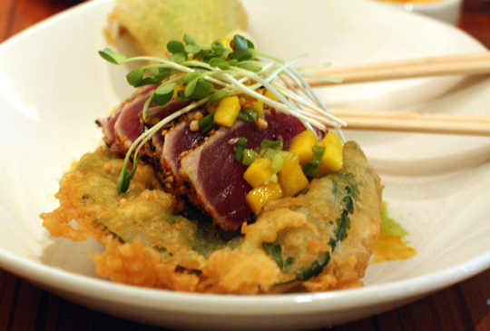 Bok choy gets a star turn in this ahi dish.