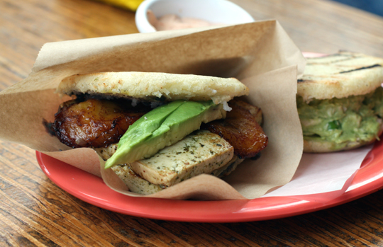 The tofu arepa.
