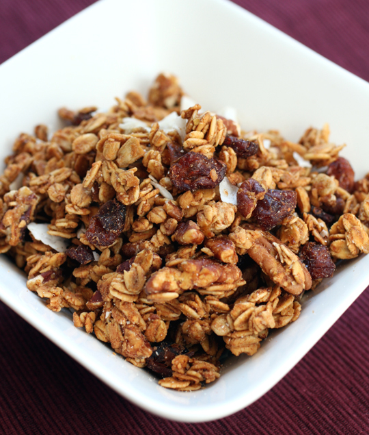 Sweet Cranberry Pecan granola. Look at all those lovely chunky clusters of oats.