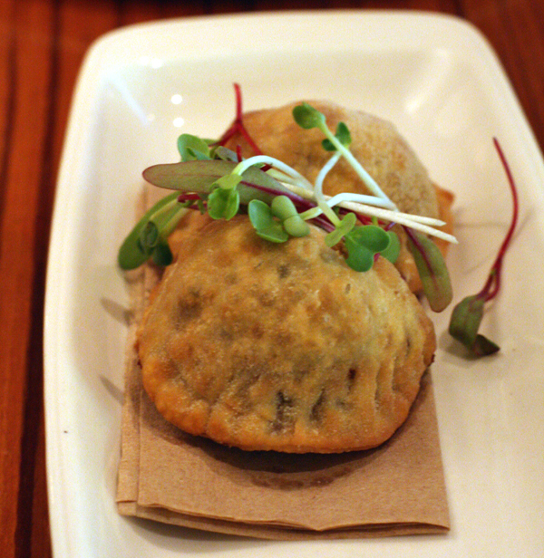 Wild mushroom empanadas at Cin Cin Wine Bar.