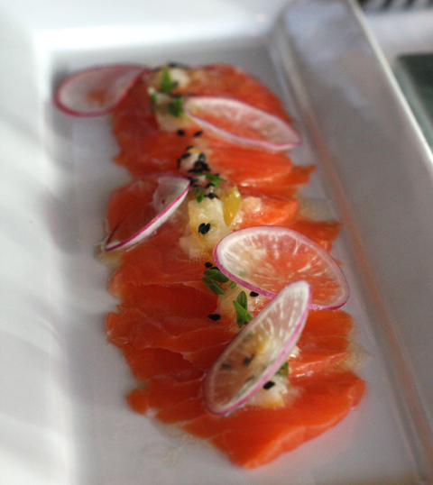 Salmon sashimi -- simple yet sublime.
