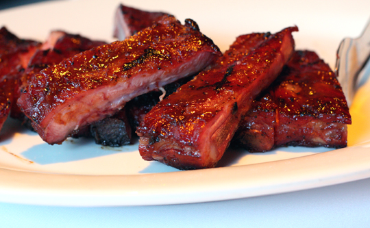 Apple-glazed St. Louis ribs.