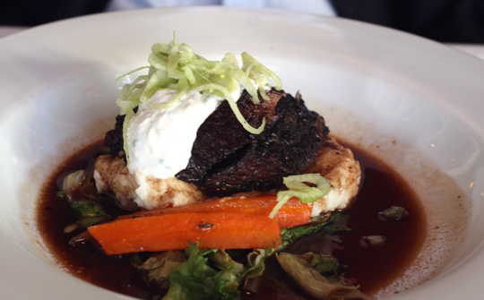 The signature short ribs with the kick of horseradish cream.