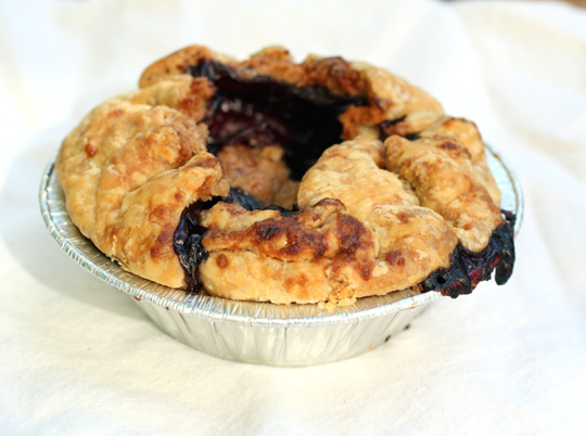 A two-serving triple berry crostata.
