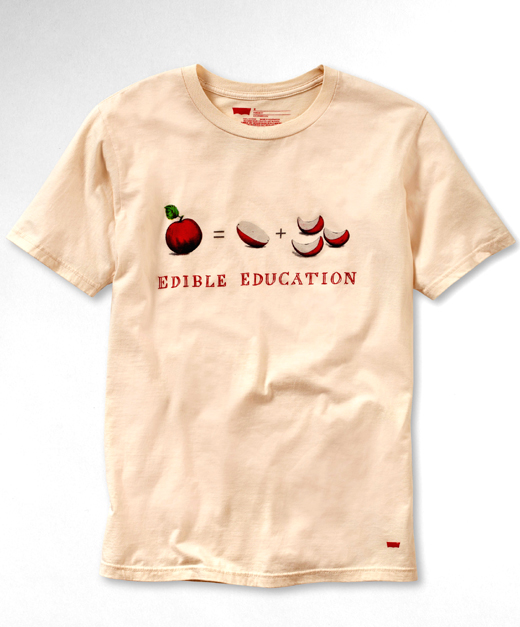 The Alice Waters-designed T-shirt by Levi's. (Photo courtesy of Levi's)