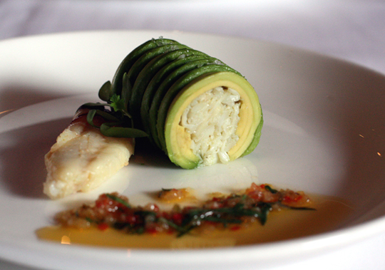 The purity of avocado and crab. (Photo by Carolyn Jung)
