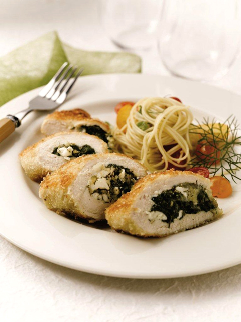 Last year's winning dish, &quot;Spinach Stuffed Chicken Breasts'' by Alexandria Bosell. (Photo courtesy of Foster Farms)