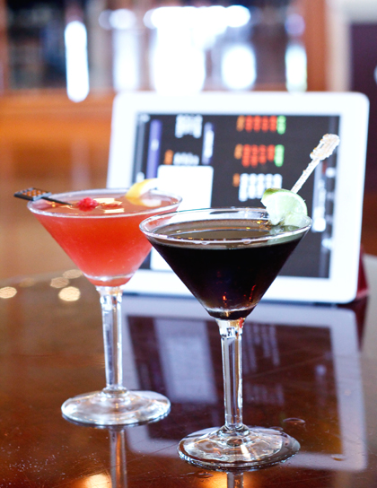 Cocktails to commemorate the rise and fall of the stock market. (Photo courtesy of the InterContinental Hotel)