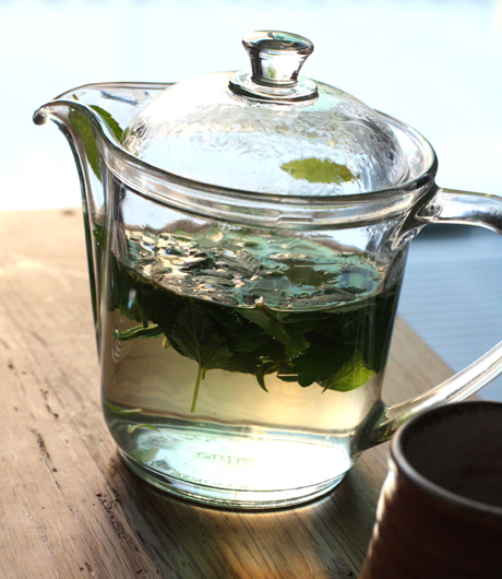 ... tisane ($4), in which steeped lemon verbena, lemon balm, and mint