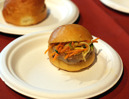 Vietnamese pork slider by Baker & Banker.