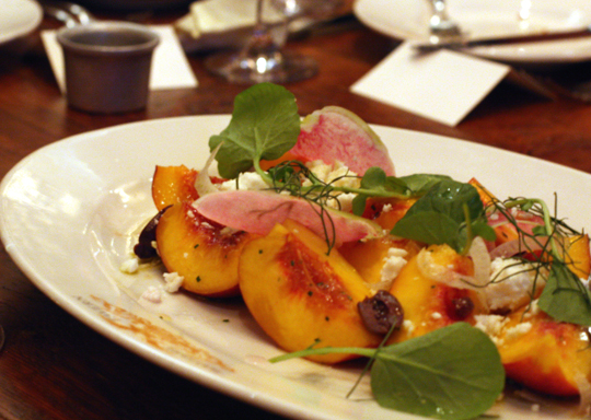 Frog Hollow peach salad.