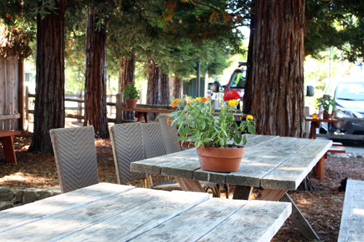 Enjoy your fried chicken at one of the picnic tables. Or take it home to enjoy.
